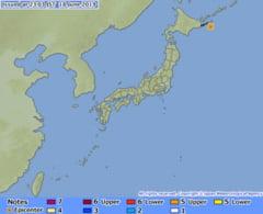 Un cutremur puternic a avut loc in Japonia. A fost emisa alerta de tsunami