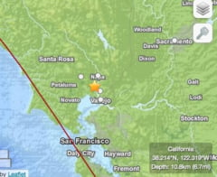 Un cutremur puternic a lovit California. Epicentrul, aproape de San Francisco