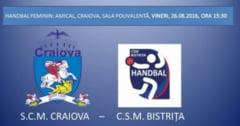 Un egal si o infrangere pentru CSM Bistrita, in partidele cu SCM Craiova