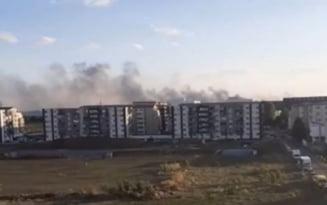 Un incendiu de vegetatie a izbucnit in zona IMGB Berceni DIN Capitala VIDEO