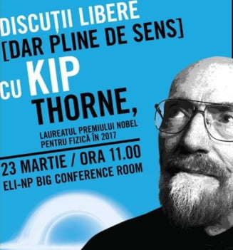 Un laureat al premiului Nobel pentru Fizica vine la Bucuresti sa vorbeasca despre calatorii in timp si gauri negre