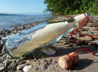 Un mesaj trimis intr-o sticla si-a gasit destinatar dupa o calatorie de trei ani si 3.200 de km pe Oceanul Atlantic