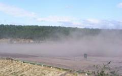 Un nor de praf s-a ridicat aproape de Severin. Sursa de poluare: Termocentrala Halanga