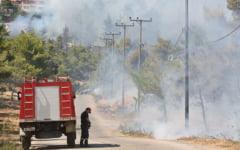 Un nou incendiu a izbucnit în apropiere de Atena. Oamenii din zonă sunt evacuați