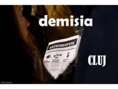 """Un nou protest la Cluj. """"Un pas mic pentru Dragnea, un salt urias pentru Romania!"""""""
