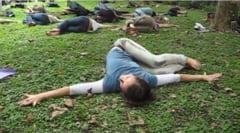 Un nou trend castiga teren: Yoga cu tipete si injuraturi, pe ritm de Metallica, cu berea alaturi