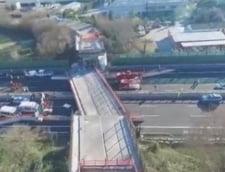 Un pod s-a prabusit pe o autostrada din Italia - trei romani raniti (Video)