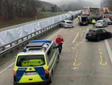 Un roman a murit intr-un accident in lant in care au fost implicate 15 masini, pe o autostrada din Germania