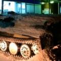 Un rus a intrat cu un tanc intr-un magazin si a furat o sticla cu vin (Video)