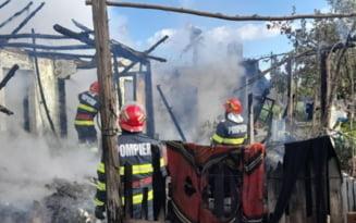 Un scurtcircuit a aprins o gospodarie in localitatea Sfantu Gheorghe