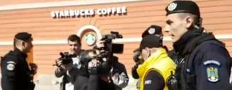 """Un simpatizant PSD a batut un contestatar PSD, la Brasov. Jandarmii au retinut doar """"partea vatamata"""", nu si agresorul. Cum explica Jandarmeria interventia contestata"""