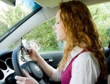 Un sms la volan, la fel de periculos precum consumul abuziv de alcool