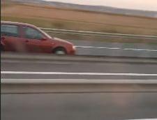 Un sofer a fost filmat conducand pe contrasens pe Autostrada Transilvaniei (Video)