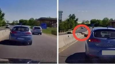 Un sofer care circula pe DN 1 a scos pistolul pe geam. Acum s-a ales cu dosar penal VIDEO