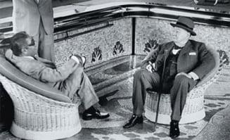 Un tablou pictat de Churchill, care a decorat iahtul lui Aristotel Onassis, scos la licitatie la New York