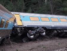 Un tren expres Sydney-Melbourne a deraiat: Doi oameni au murit (Foto&Video)