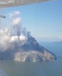 Un vulcan considerat inactiv a erupt pentru prima data in istorie (Video)