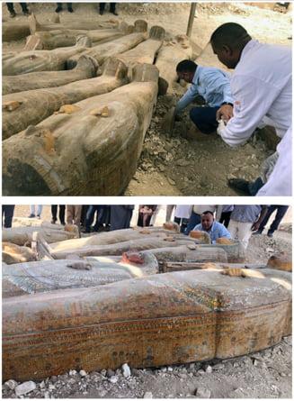 Una dintre cele mai mari si mai importante descoperiri arheologice: 20 de sicrie antice in apropiere de Luxor (Foto)