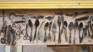 Unelte ascunse de prizonierii de la Auschwitz, descoperite in timpul lucrarilor de restaurare
