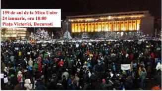 Uniti toti, scapam tara de hoti! - protest antiguvernamental printr-o hora in Piata Victoriei