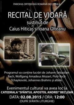Unora le place Brahms, altora, Bach, Mozart, Tchaykovski; pentru ei, concert de vioara la Beclean