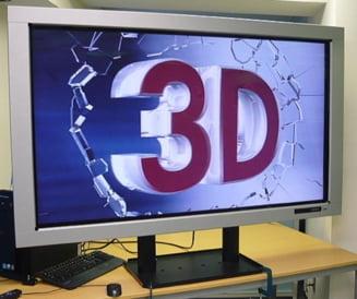 Unul din 100 de romani a cumparat un televizor 3D, in 2010