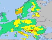 Urgie in Europa: Cod rosu de inundatii, ninsori si furtuni