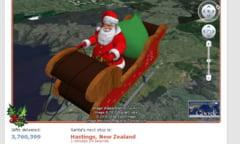 Urmareste traseul lui Mos Craciun, cu Google Earth (Video)