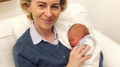 Ursula von der Leyen a devenit bunica pentru prima oara. Ce a scris sefa Comisiei Europene pe Instagram