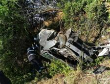 VIDEO/ FOTO Accident grav pe Autostrada A1. O soferita de 23 de ani s-a rasturnat cu masina in afara drumului. A fost gasita la 15 metri de autoturism