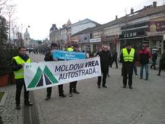 "VIDEO: Iesenii au protestat din nou pe Pietonal. ""Avem o graba: vrem Autostrada""!"