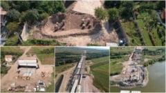 VIDEO: Pe Autostrada Sebes - Turda, Lotul 1, pe locul casei demolate de la Oarda, s-au terminat de forat pilonii