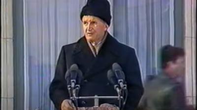 VIDEO. Revolutia din 1989. 21 decembrie, Bucuresti. Ultimul discurs al lui Ceausescu si efectul de panica amplificat in difuzoare