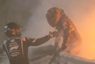 VIDEO Accident grav in Formula 1. O masina a luat foc si a fost distrusa total. Ce s-a intamplat cu pilotul
