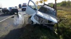 VIDEO Accident spectaculos pe DN2 E85 la iesire din Buzau