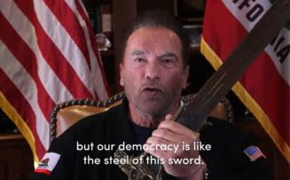 """VIDEO Arnold Schwarzenegger: """"Trump este un lider ratat, cel mai slab presedinte din istorie. Miercuri a fost Ziua de cristal chiar aici, in SUA"""""""