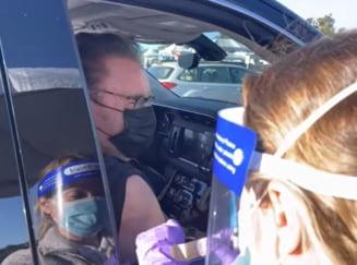 """VIDEO Arnold Schwarzenegger s-a vaccinat """"drive in"""" contra COVID-19: """"Vino cu mine, daca vrei sa traiesti!"""""""