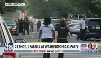 VIDEO Atac armat la o adunare numeroasa de oameni in Washington DC. Un adolescent a fost ucis, alte 20 de persoane au fost ranite. Multe gloante au ramas in urma impuscaturilor