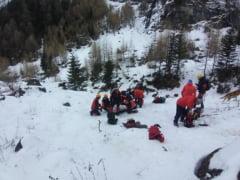 VIDEO Avertismentul Salvamont: Risc de avalansa maxim in muntii Busteni. Sfatuim amatorii de senzatii tari sa se abtina pana la omogenizarea zapezii