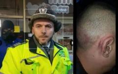 """VIDEO Barbat snopit in bataie cu catusele la maini in autospeciala Politiei. """"Doar au oprit masina si au zis ca-mi arata ei mie"""""""
