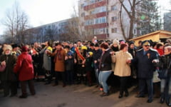 VIDEO Buzoienii au sarbatorit Mica Unire cu o sceneta istorica si cea mai mare Hora a Unirii