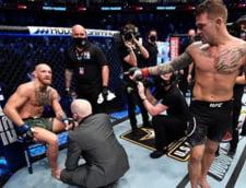 VIDEO Celebrul luptator Conor McGregor, facut praf la revenirea in ring. A avut nevoie de carje pentru a pleca acasa