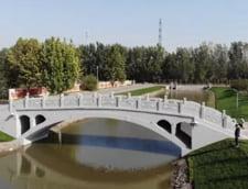 VIDEO China: Cel mai lung pod din lume, realizat cu imprimanta 3D, a intrat in Cartea Recordurilor
