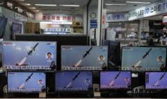 VIDEO Coreea de Nord a lansat doua rachete in Marea Japoniei. Joe Biden a ras cand a fost intrebat despre eveniment
