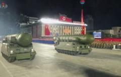VIDEO Coreea de Nord dezvaluie o noua racheta balistica intercontinentala, al carei nume este deocamdata necunoscut