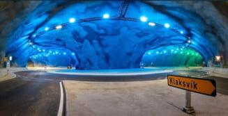 VIDEO Cum arata primul sens giratoriu de sub Oceanul Atlantic. O sosea conecteaza subacvatic doua orase din Insulele Feroe
