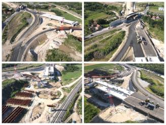 VIDEO Cum arata santierul autostrazii Sebes-Turda. Au trecut cinci ani de la debutul lucrarilor pe primele doua loturi