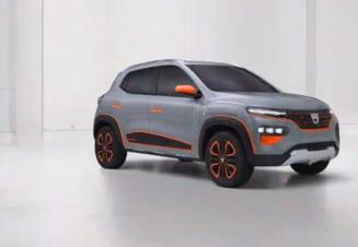 VIDEO Dacia Spring, prima masina romaneasca, suta la suta electrica, prezentata oficial in luna octombrie