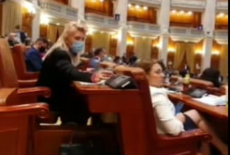 "VIDEO Deputata PSD, filmata in timp ce vota de doua ori: ""Pur si simplu nu se pot abtine sa nu incalce legea pesedistii. Invata repede"""