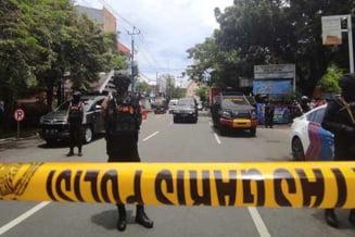 VIDEO Explozie in apropierea unei catedrale din Indonezia, provocata de un atacator sinucigas cu bomba